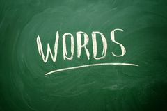 Handwritten Words word Stock Photos