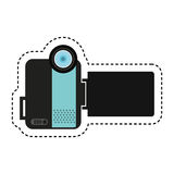 Handy cam device isolated icon Royalty Free Stock Photography