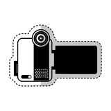 Handy cam device isolated icon Royalty Free Stock Photos