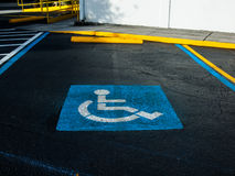 Handi Cap Parking Royalty Free Stock Photography