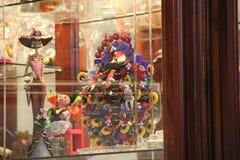 Handy Crafts Mexico Art. Arbol de la vida, muñequita de trapo, catrina, true glass Stock Image