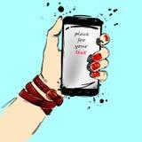 Handy in der Hand Stockfotos