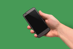 Handy in der Hand Lizenzfreies Stockbild