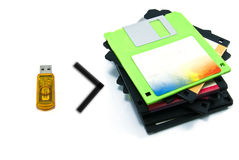 Handy drives with the diskettes Royalty Free Stock Image