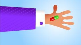 Handy drugs vector illustration