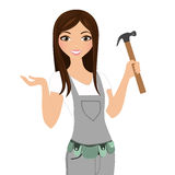 Handy fix-it woman Royalty Free Stock Photos