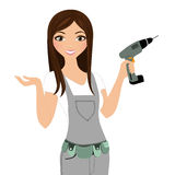 Handy fix-it woman Royalty Free Stock Images