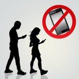 Handy-Gebrauch verboten lizenzfreie abbildung