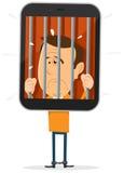 Handy-Gefangener Lizenzfreie Stockfotografie