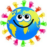 Handy globe royalty free illustration