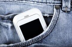 Handy ist in der Tasche Lizenzfreie Stockbilder