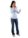 Handy-Mädchen Lizenzfreies Stockfoto