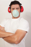 Handy man with arms crossed. Image of a handy man with arms crossed Royalty Free Stock Photo