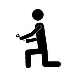 Handy man or engineer icon image Royalty Free Stock Photos
