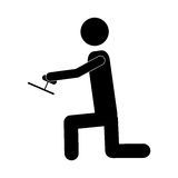 Handy man or engineer icon image Royalty Free Stock Photography