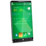 Handy mit dünner Anzeigeneinfassung Stockfoto