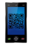 Handy with QR Code Stock Image