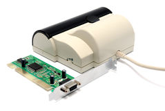 Handy scanner Stock Photo