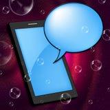 Handy stellt Kommunikation Internet und Portable dar Lizenzfreie Stockfotografie