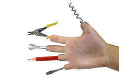 Handy Tool hand Royalty Free Stock Photos