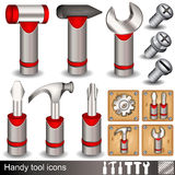 Handy tool icons Royalty Free Stock Image