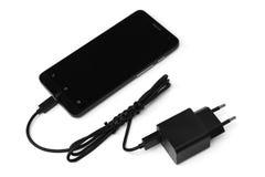 Handy- und Adapterladegerät Lizenzfreies Stockfoto