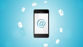 Handy- und E-Mail-Videoanimation stock footage