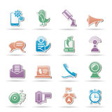Handy- und Kommunikationsikonen Lizenzfreies Stockfoto