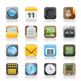 Handy- und Kommunikationsikonen Lizenzfreies Stockbild