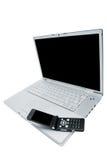 Handy und Laptop stockfotos
