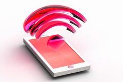Handy und Radiowelle Stock Abbildung