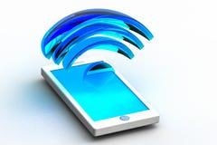 Handy und Radiowelle Lizenzfreie Abbildung