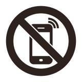 Handy verboten stock abbildung