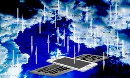 Handy-Wolken-Technologie Technologiekommunikation vektor abbildung