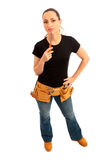 Handy Woman Royalty Free Stock Photo