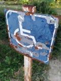 Handycap или символ человека кресло-коляскы стоковая фотография rf