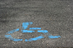 Handycap parking. Wheelchair parking logo for people with disabilities Royalty Free Stock Images