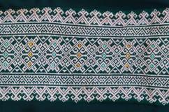 Handycraft texture Thai cloth. Royalty Free Stock Image