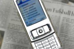 Handyinternet-Datenbanksuchroutine stockbild