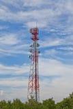 Handykommunikationsverstärker- Antennenmast stockfotos