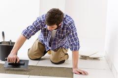 handyman βασική βελτίωση που βάζ& Στοκ Εικόνα