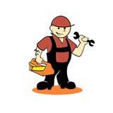 handyman εργαλεία κινούμενων σ&chi Στοκ Εικόνες