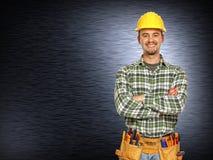 handyman θετικό χαμόγελο στοκ εικόνες με δικαίωμα ελεύθερης χρήσης