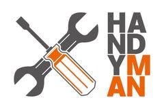 Handyman με τα εργαλεία κατασκευής τρισδιάστατο γαλλικό κ&lambda Στοκ Εικόνες