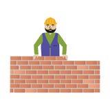 Handyman που φορά τα ενδύματα εργασίας και μια ζώνη με τα εργαλεία Στοκ Εικόνα
