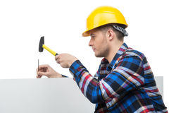 Handyman στην εργασία. Στοκ Εικόνες