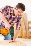 Handyman στην εργασία Στοκ Εικόνες
