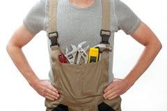 Handyman στις φόρμες Στοκ εικόνες με δικαίωμα ελεύθερης χρήσης