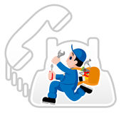 handyman vektor illustrationer