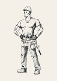handyman royaltyfri illustrationer